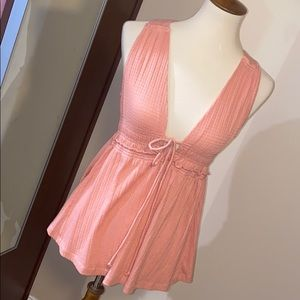 Free People Pink Sand Top-NWT